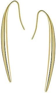 ailov Long Vertical Bar Dangle Earrings for Women Hypoallergenic Minimalist Skinny Line Titanium Stainless Steel