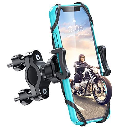 Handy Fahrradhalterung Handyhalterung Fahrrad Handyhalter Motorrad Lenker Abnehmbar Universal 360° Drehung für iPhone 11 Pro Xs Max, XR, X, 8, 7, 6, Samsung S10 S9 S8, andere Smartphones 4-6.5