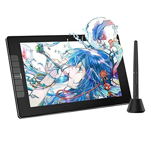 初心者液タブVEIKK 液タブ VK1200液晶ペンタブレット 色域120%sRGB 入門者に適用 11.6インチ 8192級充電不要ペン 傾き検知機能が搭載 フルラミネートIPSディスプレイ ショートカットキー6個 フルラミネートスクリーン 高画質液晶タブレット(黒) VK1200
