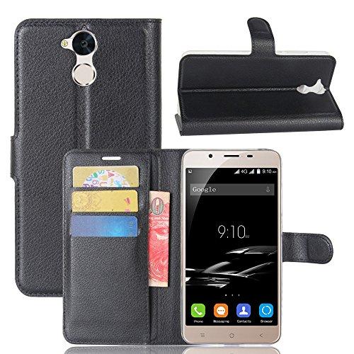 Litao-Case CN Hülle für Blackview P2 hülle Flip Leder + TPU Silikon Fixierh Schutzhülle Case 5
