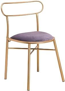 DXX-HR Sillas sillas de Terciopelo Silla tapizada de Metal for Accent Patio Sala Comedor Cocina Pie bajo el Restaurante Salón (: 42x42x77cm Color, tamaño) Comedor