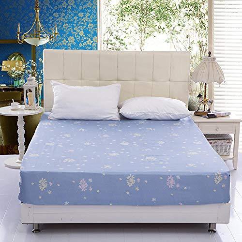 XGguo Protector de colchón Acolchado - Microfibra - Transpirable - Funda para colchon estira hasta Sábana Impermeable cepillada impresión en Color sólido-2_200x220x28cm