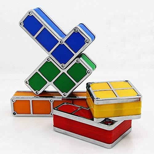 LXDDP Stapelbares Nachtlicht, 7 Farben 3D Puzzles Spielzeug LED Neuheit Schreibtischlampe Beleuchtung DIY für Kinder Teenager und Erwachsene Home Deco Tolles Geschenk zum Geburtstag