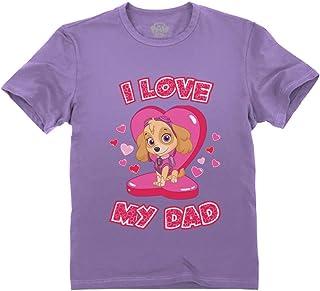 I Love My Dad Paw Patrol Skye - Father's Day Toddler Kids T-Shirt