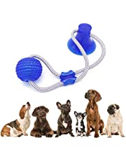 Womdee Dog Bite Toy, Multifunction Pet Molar Bite Toy, Durable Dog Tug Rope Ball Toy With Suction Cup - Tugging, Pulling, Chewing, Playing, Adult Dogs And Puppies