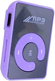 Baosity USB Clip MP3 Player Music Player Without Screen, Memory Support Up to 8GB TF Card - Purple