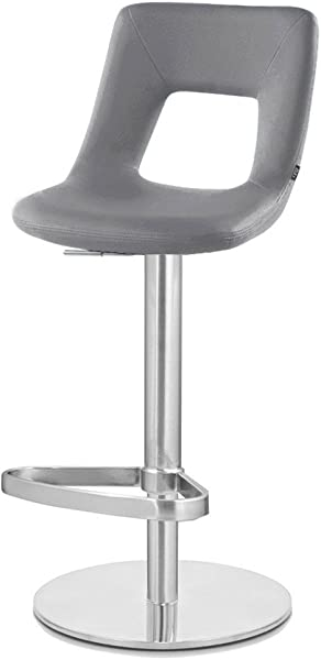 Zuri Furniture Slate Jazz Bar Stool Round Flat Base