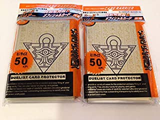 (100) YU-GI-OH Sized Card Deck Protectors Millenium Puzzle Card Sleeves 100 Pcs 63X90mm