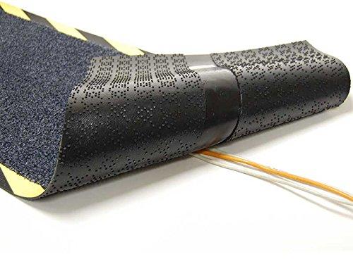 Kabelmatte/Gummifußmatte / Kabelschutz/Kabelabdeckung / schwarz Gummi grau Teppich