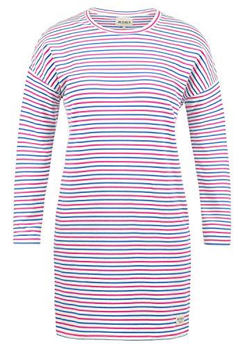 DESIRES Helena Sweatkleid Sommerkleid Kleid Mit Streifen-Optik Und Rundhals Aus Stretch-Material, Größe:M, Farbe:Brilliant (2283)