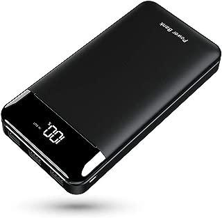 モバイルバッテリー 25000mAh 3個LEDランプ搭載 LCD表示 急速充電 PSE認証済 MicroとType-C入力ポート(2.4A+2.4A) 3USB出力ポート (2.4A+2.4A+2.4A) iPhone/iPad/Android ほとんどの機種に対応でき