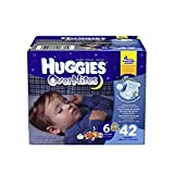 HUGGIES OverNites Diapers, Size 6, 42 ct, BIG PACK Overnight Diapers (Packaging May Vary)