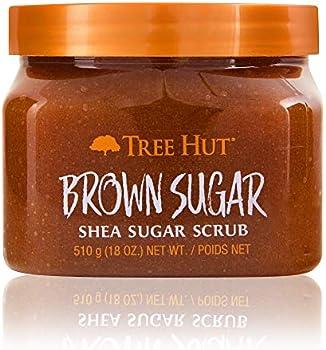 Tree Hut Ultra Hydrating & Exfoliating Shea Sugar Scrub Brown Sugar, 18oz