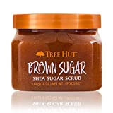 Tree Hut Shea Sugar Scrub Brown Sugar, 18oz, Ultra Hydrating & Exfoliating Scrub for Nourishing Essential Body Care