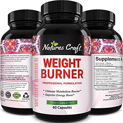Immune Support Garcinia Cambogia Weight Loss HCA - Pure Green Coffee Bean Appetite suppressant Control Supplements Green Tea EGCG Energy Workout Boost - Detox Cleanse Supplement Natures Craft