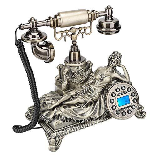 Qinlorgo Retro Telefon, MS-83070C Bronze Europäischen Stil Antike Anrufer ID Telefon Wohnkultur Hotel Telefon