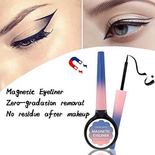 Delineador De Ojos Magnético Para Aplicación De Pestañas Magnéticas, 5ML Black Liquid Eye Liner Waterproof Delineador De Ojos De Larga Duración - DEQUATE