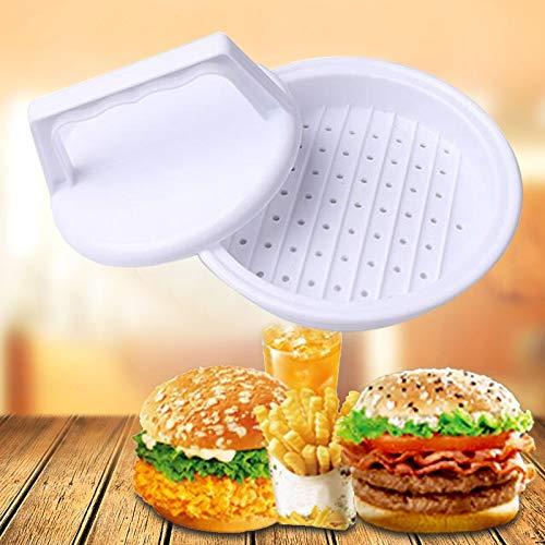 Sevenplusone Bakgereedschap Taartvorm gereedschappen 10 STKS Ronde vorm Hamburger Presser Plastic Hamburger Rundvlees Grill Burger Druk Patty Maker Mold Mould, Pluimvee Gereedschap Voor keuken