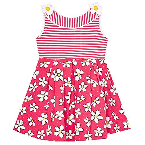 Mayoral - meisje jurk mouwloos zomerjurk tuniek bloemetjes motief, zalm - 3.950