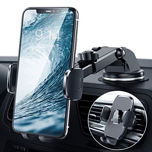 Handyhalterung-Auto, 3 in 1 Handyhalter-Auto Handyhalterung Saugnapf & Lüftung, 2021 Upgrade KFZ-Handy-Halterung 360° Drehbar Handyhalterung für iPhone 12 12Pro SE 11 11Pro Samsung Huawei Xiaomi usw.