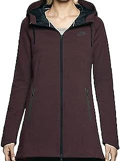 Nike Tech Fleece Aeroloft Parka Deep Burgundy/black Women's Small (615165-634)