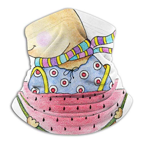 Teemoo Fleece-Nackenwärmer, multifunktionelle Bär Wassermelone Schal, eine Vollmaske oder Hut, Nackenschutz, Nackenmütze, Skimaske, Halbmaske, Gesichtsmaske, Sturmhaube,