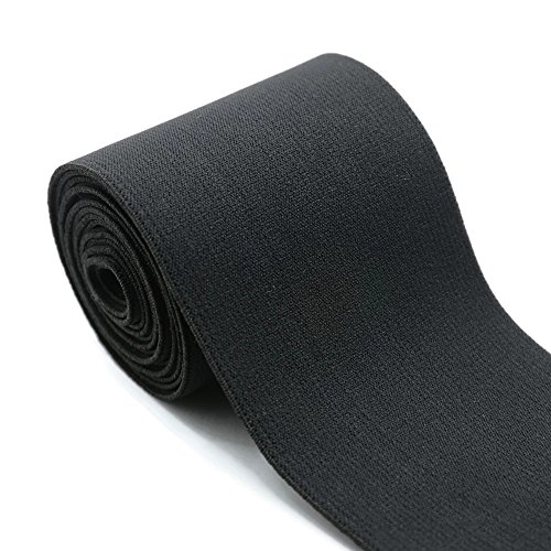 iCraft 4-inch Wide by 2-Yard Plush Black Waistband Elastic Band 73010