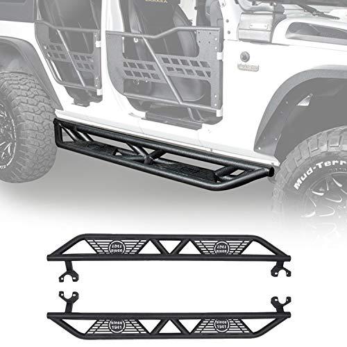 Hooke Road Wrangler JK Drop Side Steps Nerf Bars Running Boards Compatible with Jeep Wrangler JK...