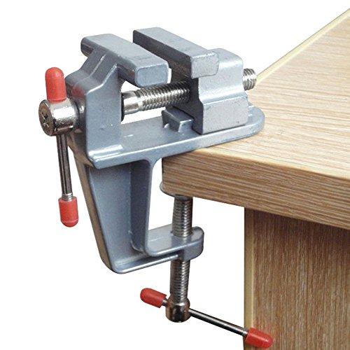 Sourcemall 小型 卓上 万力 ポータブルベンチ万力 ミニテーブルクランプ 簡単取付 (アルミ製 (0-30mm))