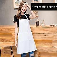 FJH ホワイトエプロンキッチン韓国スタイルのファッションコットンエプロン エプロン (Color : Shoulder strap models)