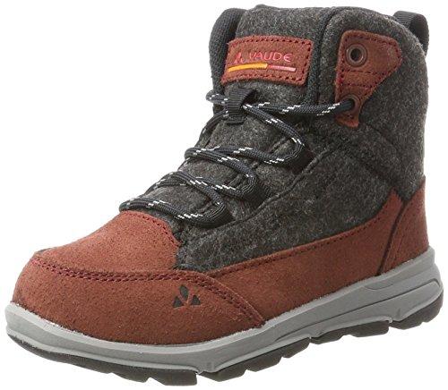 VAUDE Unisex dziecięce buty trekkingowe UBN Kiruna Mid CPX, brązowy - rowek. - 34 EU