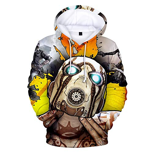bilingouy Borderlands 3D Shirt Unisex 3D Sweatshirts Pocket Hoodie Round Collar Hooded Costume