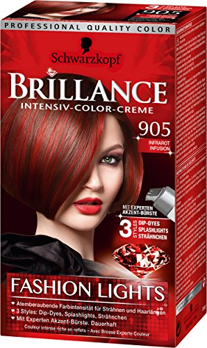 Brillance Intensiv-Color-Creme 905 Infrarot Infusion Fashion Lights, 3er Pack (3 x 143 ml)