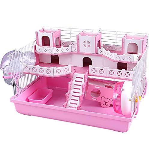 DUTUI Hamster Hideout Jaula De Hámster De Juguete para Animales Pequeños, Plataforma De Juegos para Ratones, Laberinto De Hámster De Ratón Enano, Jaula De Hámster Y Accesorios para Hámster