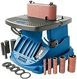SCHEPPACH OSM600 Ponceuse Oscillante à Bande 100x610mm avec Broches Rotatives, Manchons et Bandes Abrasives, 50HZ, 220-240V, Puissance de 450W, Bleu