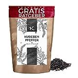 Kubebenpfeffer ganz 120g | Gourmet Pfeffer Kubeben inkl. Gratis Ratgeber | Qualitäts Schwanzpfeffer...