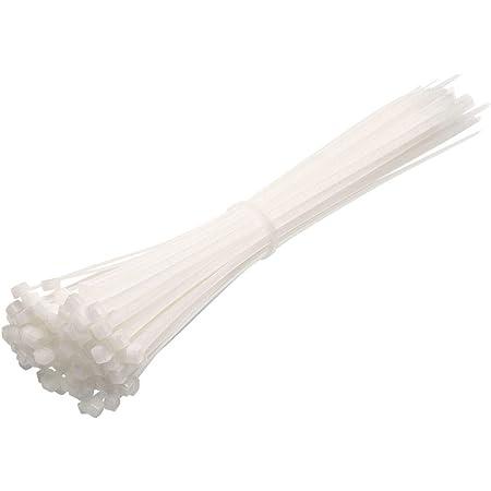 Cw Handel Premium Kabelbinder In Weiß 100 Stück 250mm X 3 6mm Uv Hitze Und Kälteresistent Baumarkt
