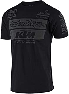 Troy Lee Designs Official Team KTM Men's T-Shirt (XX-Large, Black)