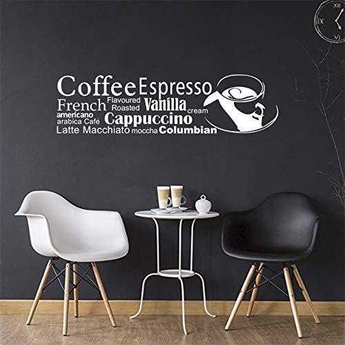 HNXDP Aufkleber Französisch küche kaffeetasse vinyl wand applique kunstwand küche café dekoration haus dekoration 16x59 cm