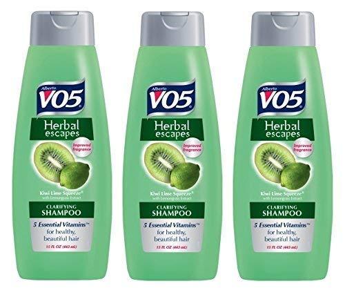 3 Pk, Alberto VO5 Herbal Escapes Kiwi Lime Squeeze Clarifying Shampoo, 15 Fl. Oz.
