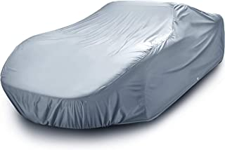 iCarCover 10-Layers All Weather Waterproof Snow Rain UV Sun Dust Protection Automobile Outdoor Coupe Sedan Hatchback Wagon Custom-Fit Full Body Auto Vehicle Car Cover - for Cars Up to 215""
