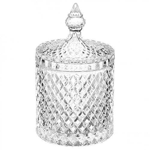 Paris Prix––Bombonera de cristal 'diamante' 14cm), transparente