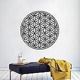 Kreis Geometrie Design Wandaufkleber Blume des Lebens Wandtattoo Wohnkultur Yoga Studio Wandplakat Leben Wandkunst A5 57x57cm