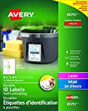 "Avery Easy Align Self-Laminating ID Labels for Laser and Inkjet Printers, 3-1/2"" x"