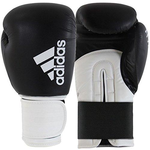 Adidas Hybrid 100Boxhandschuh, Rot / Weiß, schwarz / weiß, 340,2 g (12 oz)