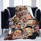 ANGOGO Ultra Soft Flannel Fleece Blanket Chris Evan-s Stylish Bedroom Living Room Sofa Warm Blanket 50x40inch