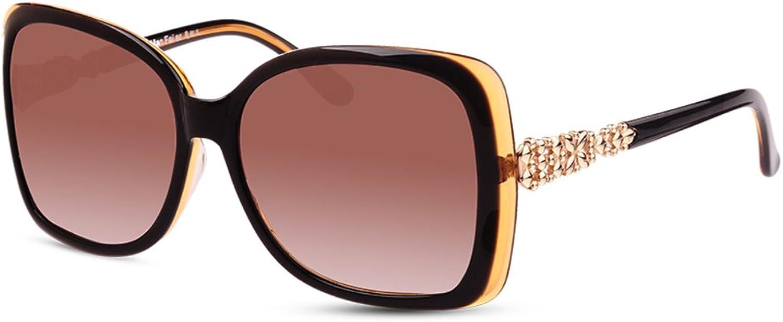 Lady vintage large frame sunglasses Fashion Polarized Sunglasses Joker driving sunglassesB