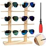 JUSTDOLIFE Soporte de ExhibicióN de Los Vidrios Gafas de Sol Decorativas de Madera Creativas (Madera, 43_cm)