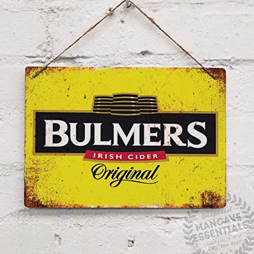 SIGNCHAT Bulmers Cider Irish Cyder Vintage Blechschild Metalldekor Metallschild Wand Metall Blechschild 20,3 x 30,5 cm