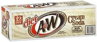 A&W Diet Cream Soda, 12-Ounce (24 Cans)